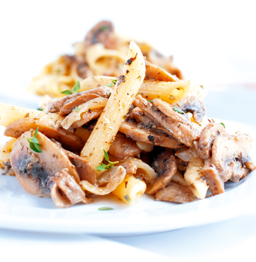 Penne with Cep Mushrooms